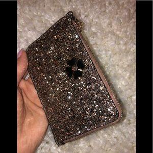Kate Spade Glitter Zip Card/Key Holder